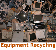 Secure WEEE equipment recycling and disposal