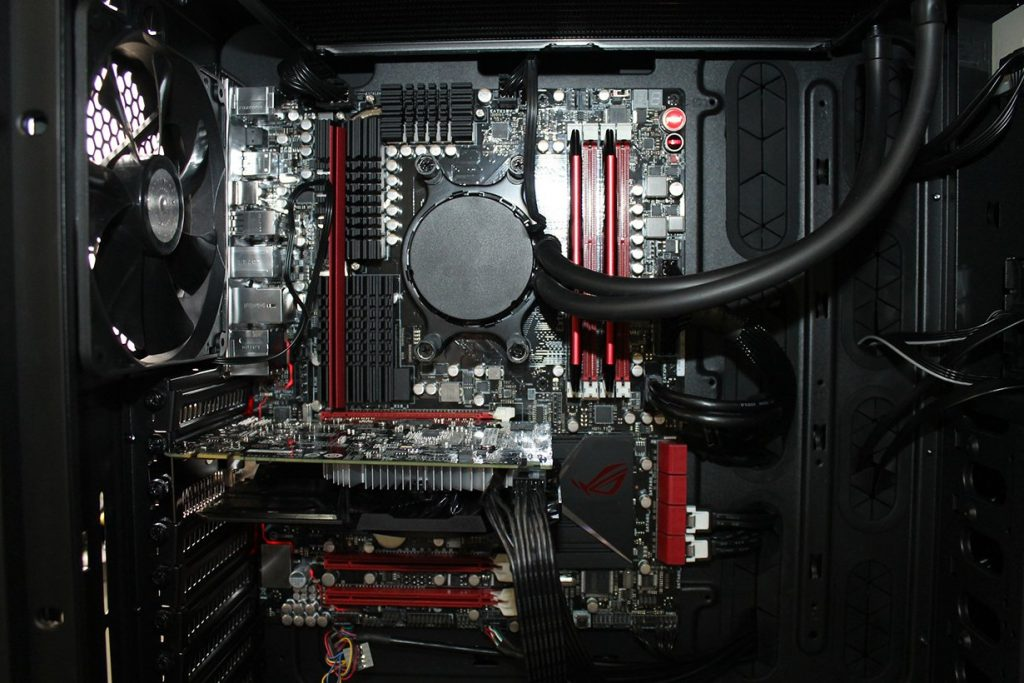 view inside a computer